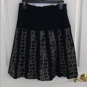 Etcetera knitted abstract skirt